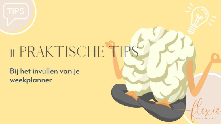 11 tips invullen weekplanner