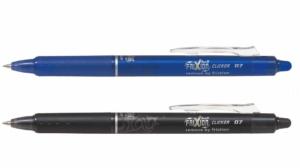 Pilot Frixion clicker pen blauw zwart